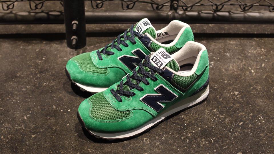 new balance 574 green black