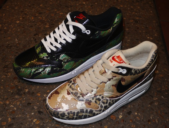 "SNEAKERS: Atmos x Nike Air Max 1 ""Camo – Animal"" Pack"